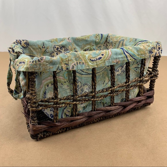Vintage Wicker rattan basket